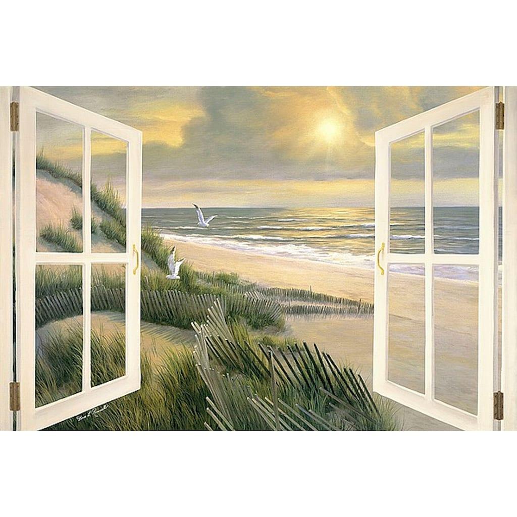Home affaire Leinwandbild »D. ROMANELLO / Morgentliche Medidation am Fenster«, (1 St.)