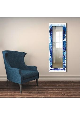 Artland Wandspiegel »Aquarell in blau«, gerahmter Ganzkörperspiegel mit Motivrahmen,... kaufen