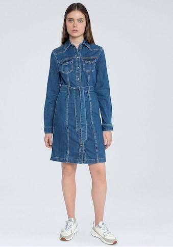 Pepe Jeans Jeanskleid »JULIE BLUE«, mit vielen tollen Details und Gürtel zum Binden kaufen