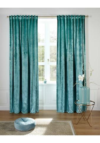 Guido Maria Kretschmer Home&Living Vorhang »Jasmina«, blickdicht, Samtoptik, monochrom kaufen