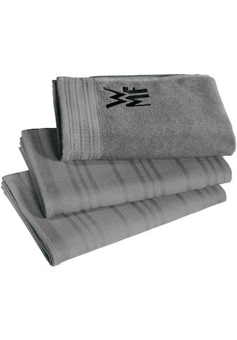 WMF Geschirrtuch, (Set, 3 tlg.), 100% Baumwolle, mit aufgesticktem Logo kaufen