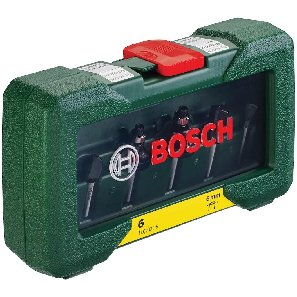 BOSCH Fräsbohrer, (Set, 6 tlg.), HM-Fräser 6 mm Schaft