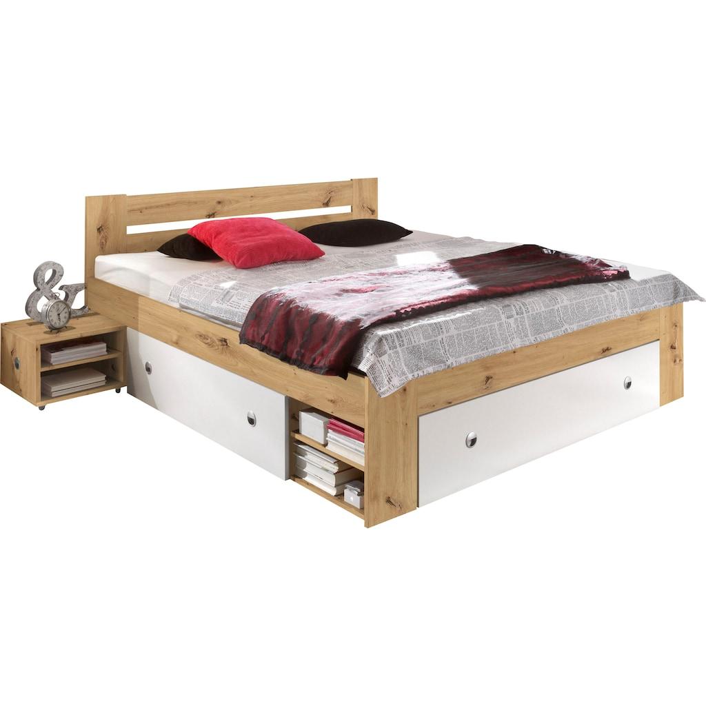 Schlafkontor Stauraumbett »Stefan«, inkl. Nachttischen und Schubkästen