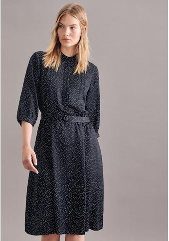 seidensticker Sommerkleid »Schwarze Rose«, 3/4-Arm Kragen Druck kaufen