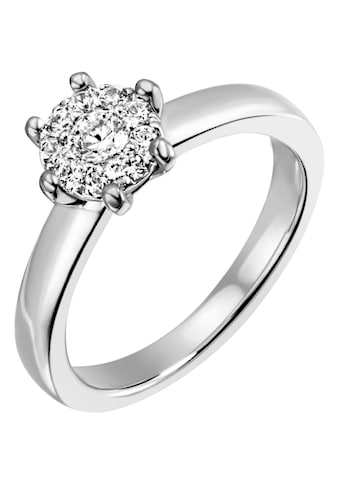 Firetti Diamantring »Verlobung, ca. 3,20 mm breit, Glanzoptik, massiv«, mit Brillanten kaufen