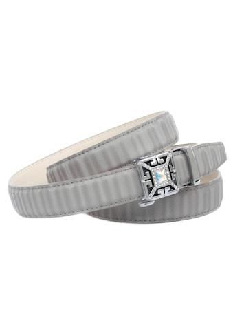 Anthoni Crown Ledergürtel, Gürtel aus Leder in 3D-Optik in grau kaufen