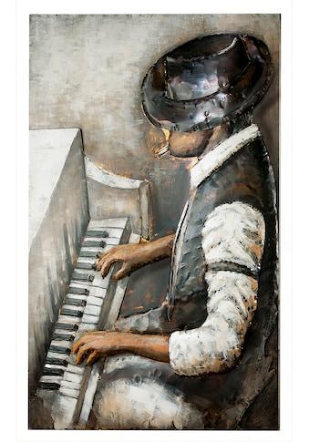GILDE GALLERY Metallbild »Kunstobjekt Rhythm And Blues«, Musiker, (1 St.),... kaufen