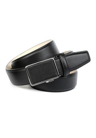 Anthoni Crown Ledergürtel, mit Leinenstoffmuster, Anzuggürtel kaufen