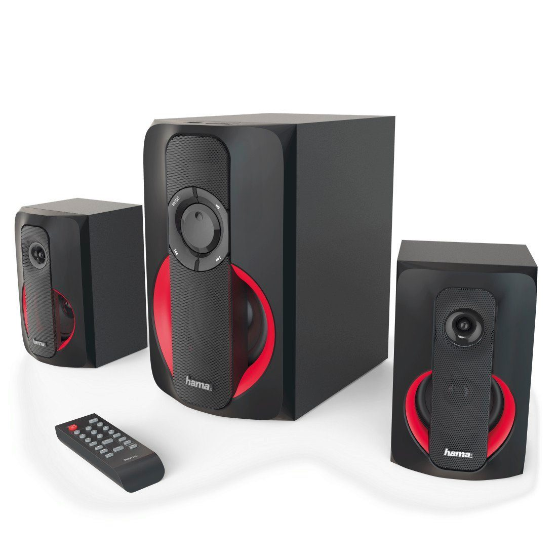 hama 2 1 soundsystem m fernbedienung bluetooth usb sd f r. Black Bedroom Furniture Sets. Home Design Ideas