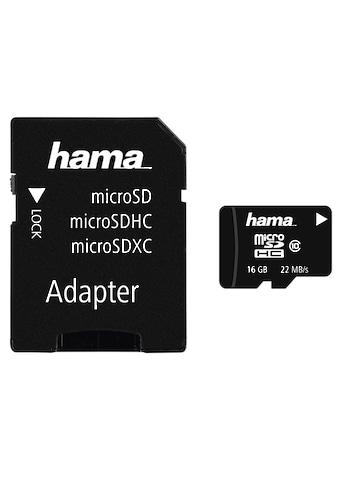 Hama Speicherkarte, (Class 10), 16 GB Class 10, 22 MB/s + Adapter/Foto kaufen