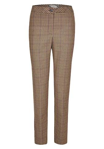 Nicowa Lange Hose mit Pepita-Muster und Streifen - MIKOLA kaufen