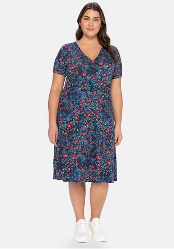 sheego by Joe Browns Jerseykleid, mit Blumendruck, leicht tailliert kaufen