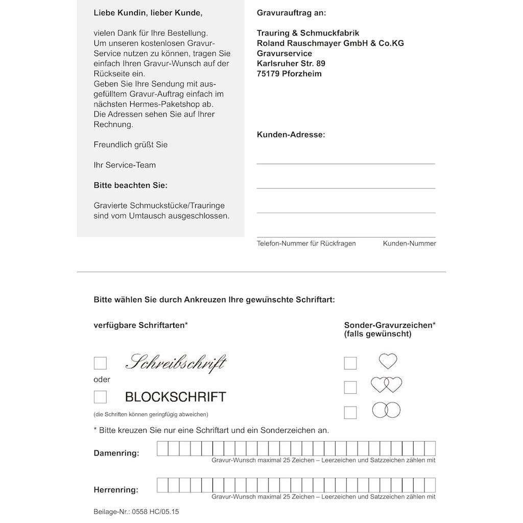 Firetti Trauring mit Gravur »glanz, in mehreren Breiten erhältlich«, Made in Germany, wahlweise mit oder ohne Brillant