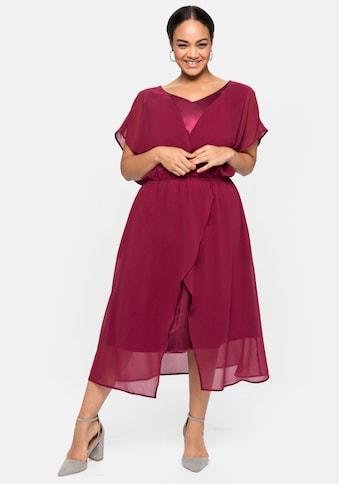 Sheego Abendkleid, im 2-in-1-Look, in Wickeloptik kaufen