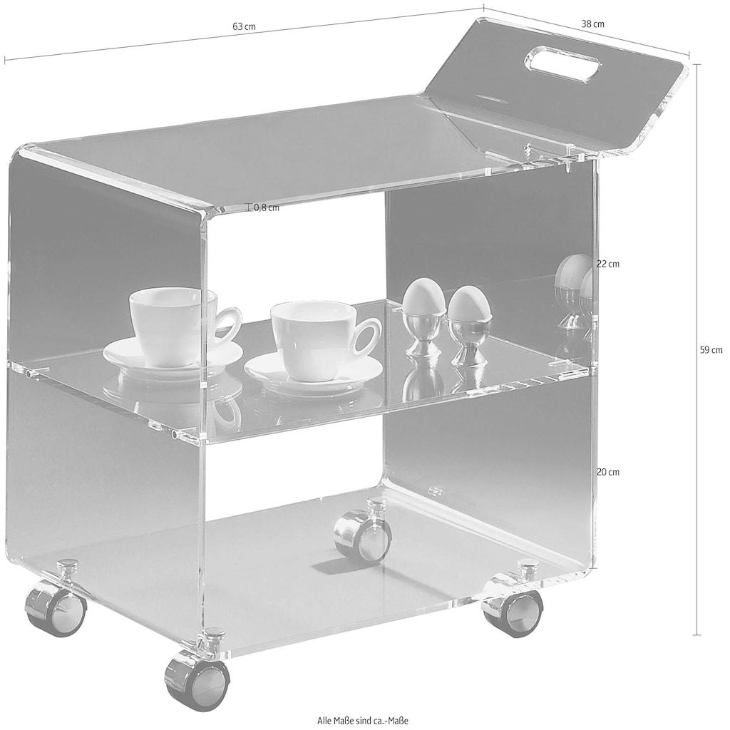 Places of Style Küchenwagen »Remus«, aus Acrylglas