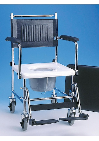 Fahrbarer Toilettenstuhl mit abnehmbarem Sitzpolster kaufen