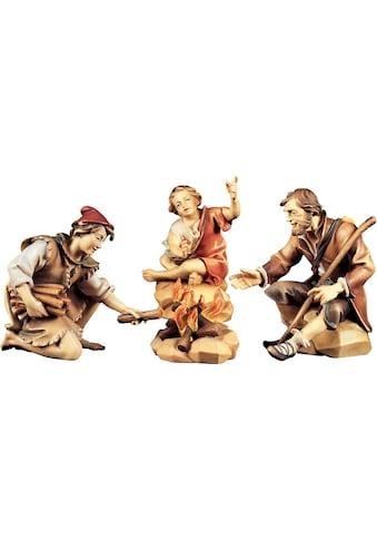 ULPE WOODART Krippenfigur »Hirtengruppe an der Feuerstelle«, Handarbeit, hochwertige... kaufen