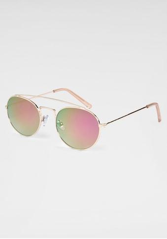 BASEFIELD Sonnenbrille, mit goldfarbenem Vollrand kaufen