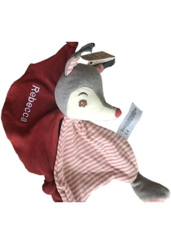 Heunec® Schnuffeltuch »FrohNATURen Eichhörnli Cranberry«, mit individueller... kaufen