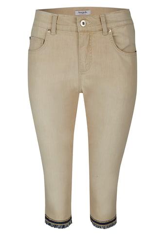 ANGELS Jeans,Capri-Fringe' mit gefranstem Beinsaum kaufen