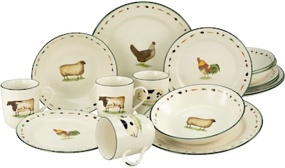 CreaTable Kombiservice »Farms Animals«, (Set, 16 tlg.), ein Klassiker kaufen