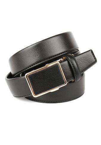 Anthoni Crown Ledergürtel, Klassischer Gürtel mit goldfarbener Schließe kaufen