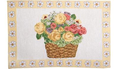 SPRÜGEL Platzset »Blumenkörbchen«, Gobelin kaufen