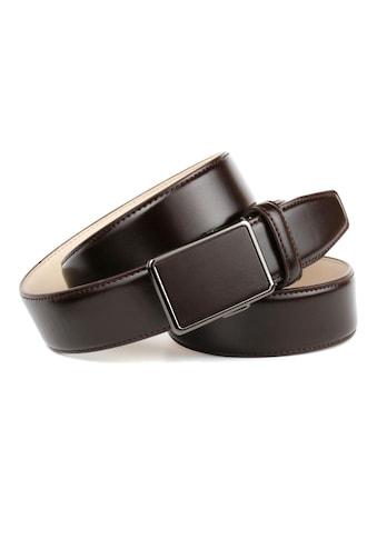 Anthoni Crown Ledergürtel, für Anzüge in Dunkelbraun kaufen