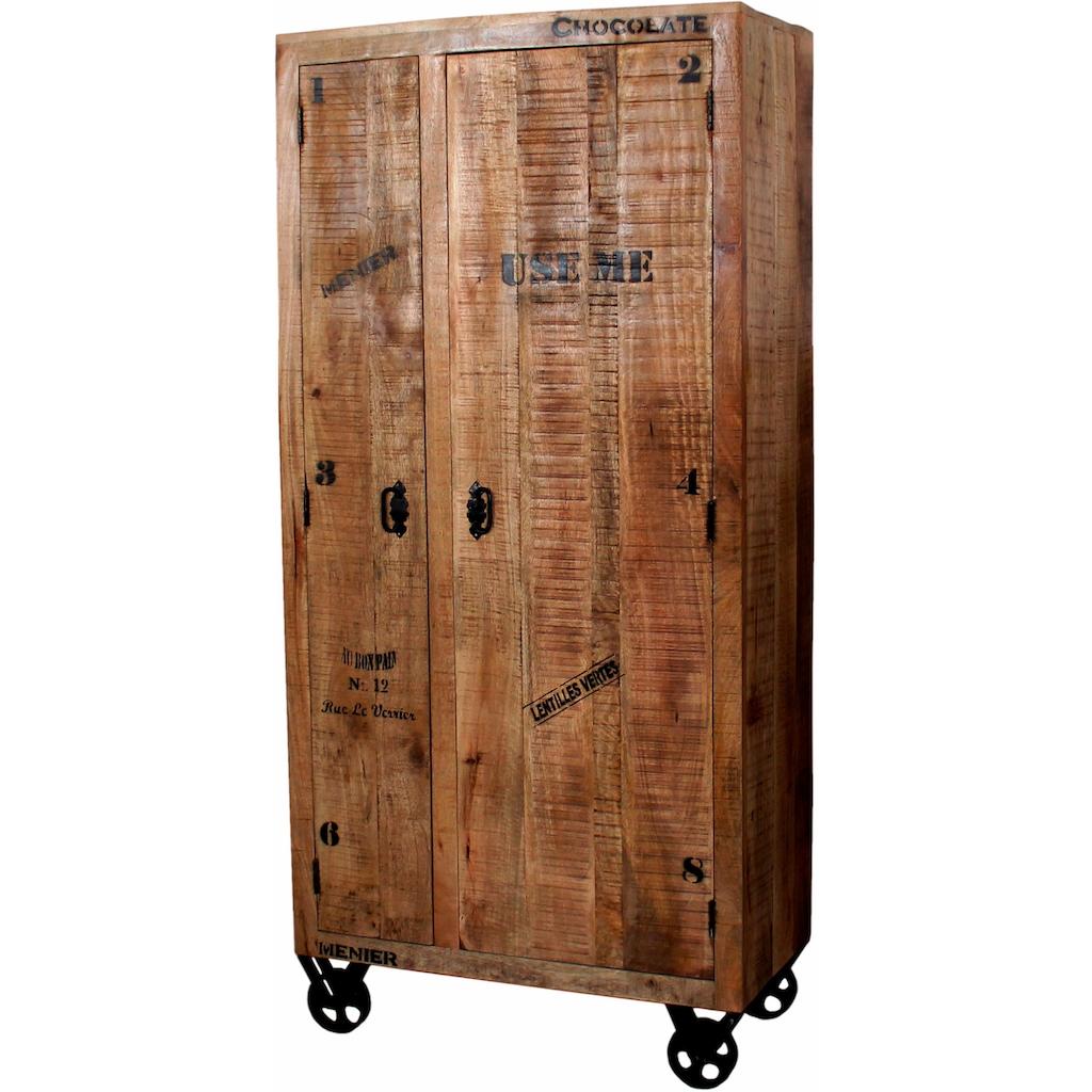 SIT Garderobenschrank, im Factory design, Breite 90 cm, Shabby Chic, Vintage