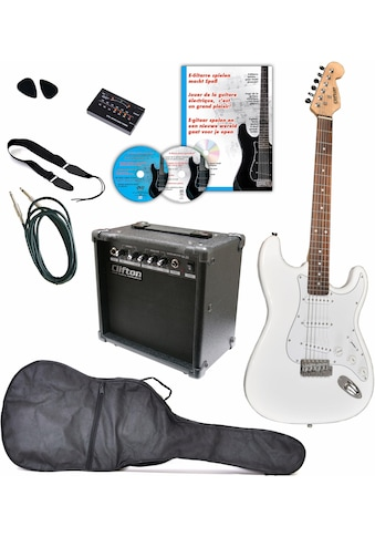 Clifton E-Gitarre »E-Gitarren Set, 10 teilig«, Komplettset kaufen