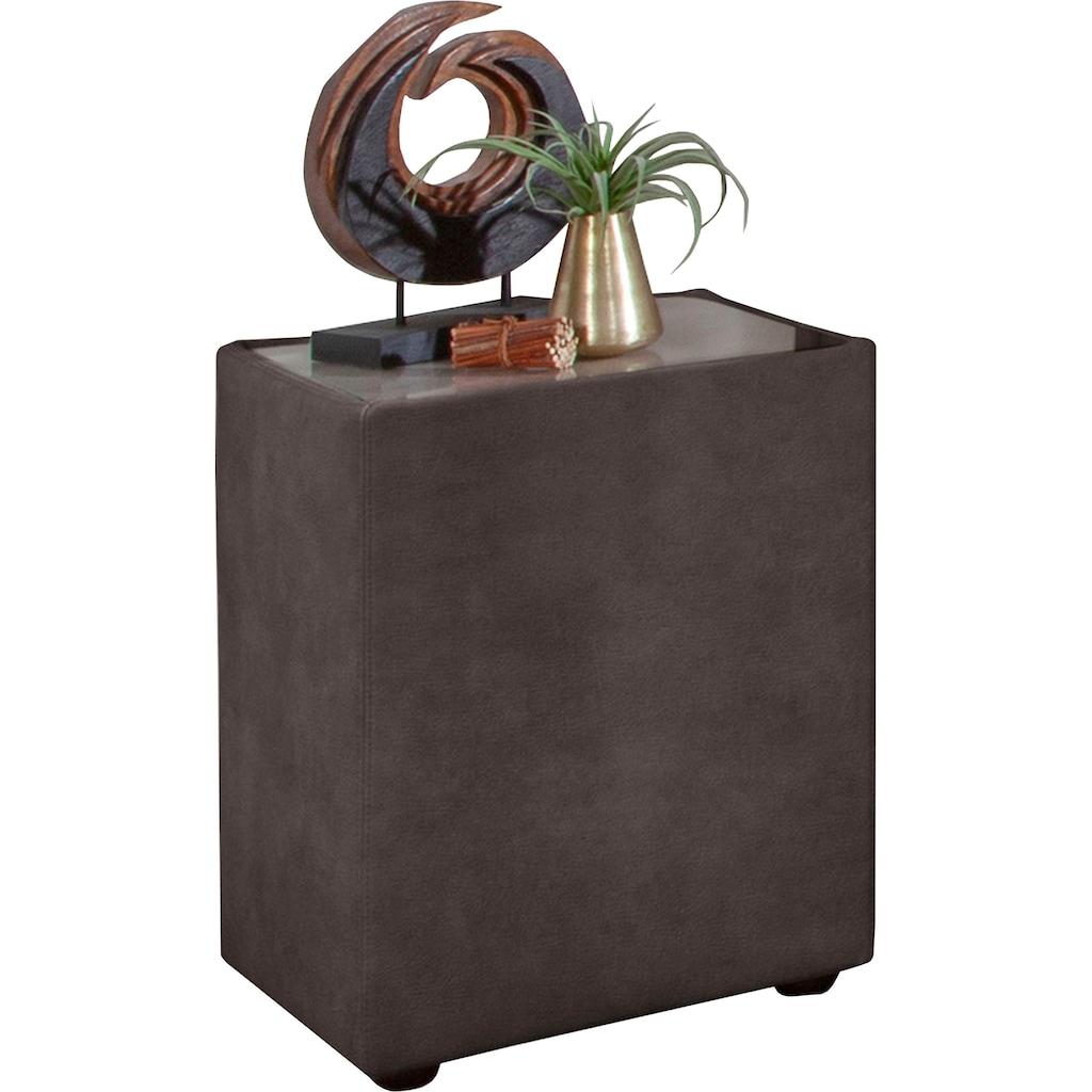 ADA trendline Nachttisch »Minoa«, mit Glasplatte