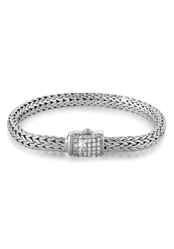 Kuzzoi Armband »Gliederarmband Damen Zirkonia Kristalle 925 Silber« kaufen