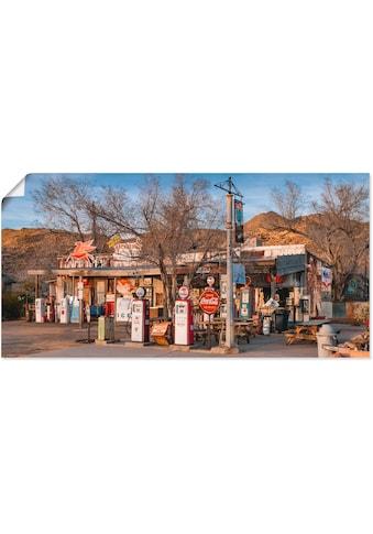 Artland Wandbild »Tankstelle an der Route 66 in Arizona«, Gebäude, (1 St.), in vielen... kaufen