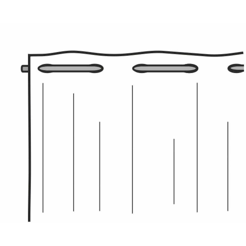 WILLKOMMEN ZUHAUSE by ALBANI GROUP Vorhang »Freddy«, Fadenvorhang gemustert