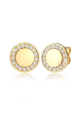 Elli Paar Ohrstecker »Elegant Klassisch Diamant (0.17 ct) 375 Gelbgold« kaufen