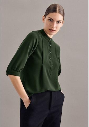 seidensticker Klassische Bluse »Schwarze Rose«, 3/4-Arm Kragen Uni kaufen