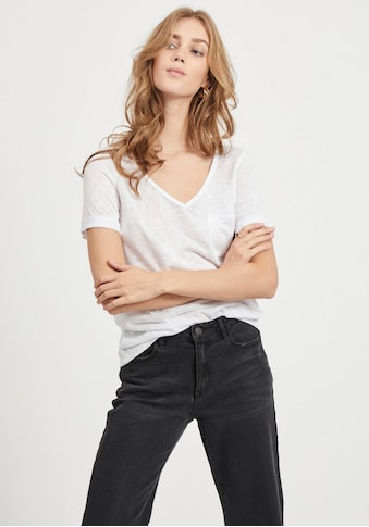 Object V-Shirt »OBJTESSI SLUB«, aus Slub-Yarn Qualität kaufen