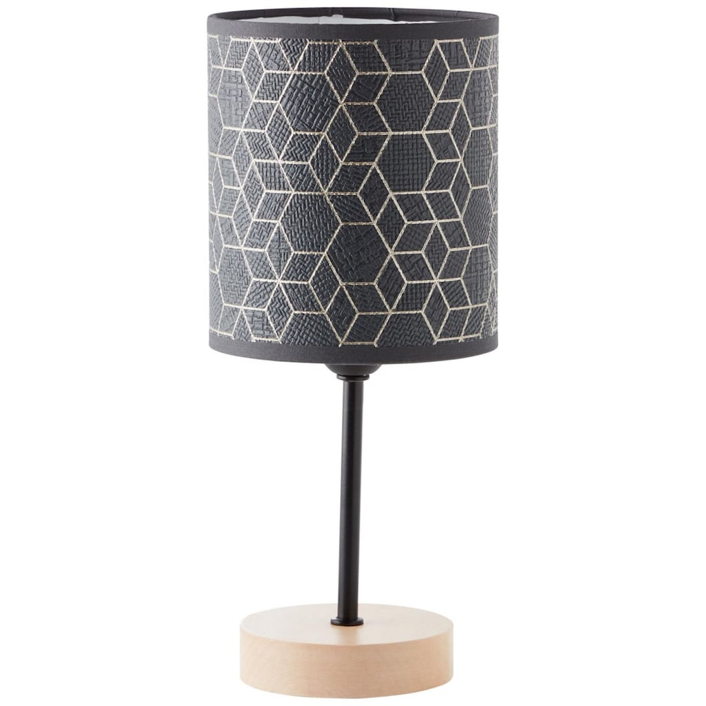 Brilliant Leuchten Tischleuchte, E27, Galance Tischleuchte klein schwarz