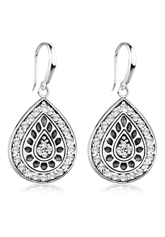 Elli Paar Ohrhänger »Tropfen Swarovski® Kristalle Vintage 925 Silber« kaufen