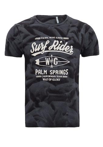 Way of Glory Print-Shirt, mit Strukturprint kaufen
