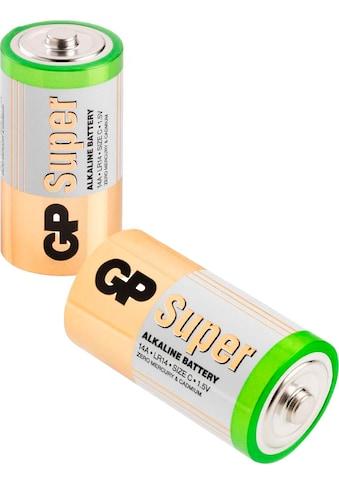 GP Batteries Batterie »Super Alkaline C«, 1,5 V, (Set, 2 St.) kaufen