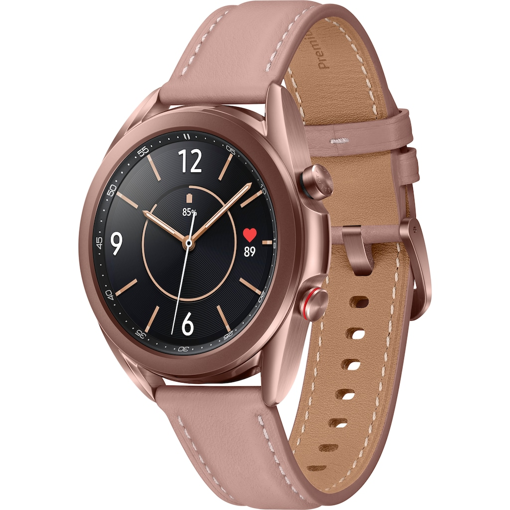Samsung Smartwatch »Galaxy Watch3, Edelstahl, 41 mm, LTE (SM-R855)«