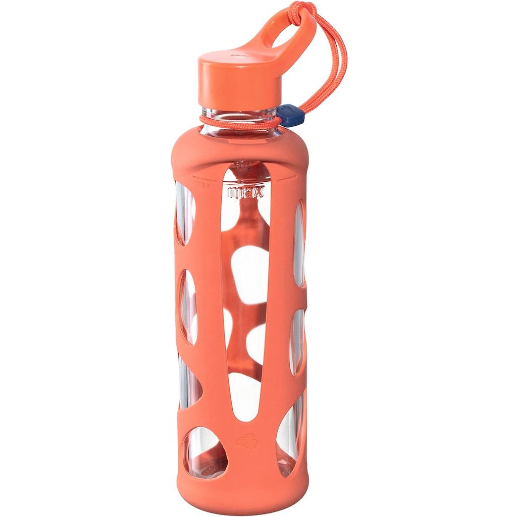 LEONARDO Trinkflasche »To go Flasche II IN GIRO«, Glas/Silikon, 500 ml