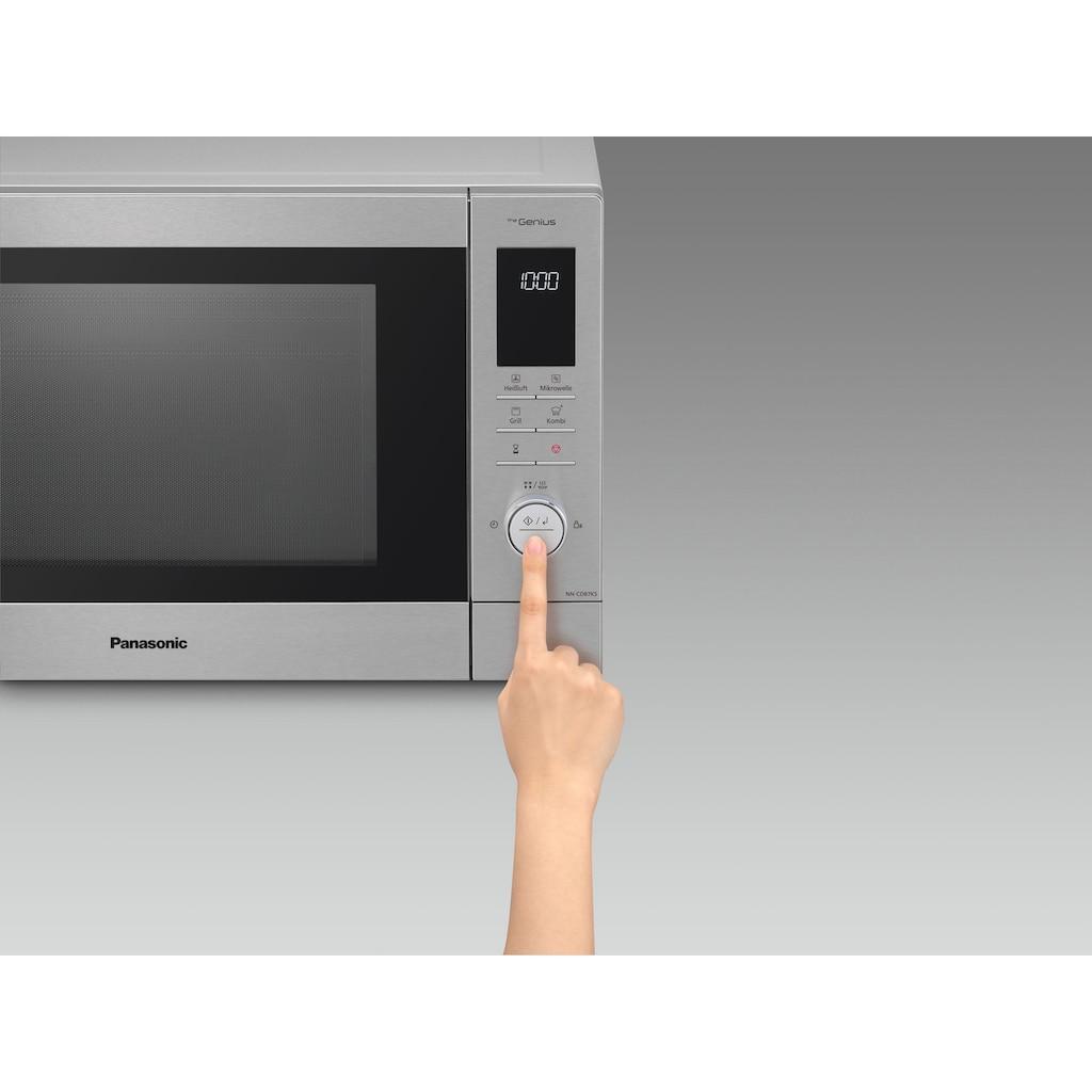 Panasonic Mikrowelle »NN-CD87KSGTG«, Grill und Heißluft, 1000 W