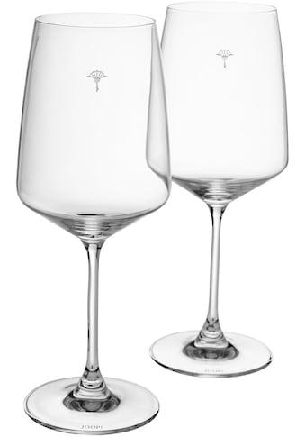 Joop! Rotweinglas »JOOP! SINGLE CORNFLOWER«, (Set, 2 tlg.), mit einzelner Kornblume... kaufen