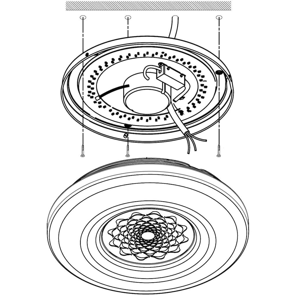 EGLO LED Deckenleuchte »CAPASSO-C«, LED-Board, Neutralweiß-Tageslichtweiß-Warmweiß-Kaltweiß, EGLO CONNECT, Steuerung über APP + Fernbedienung, BLE, CCT, RGB