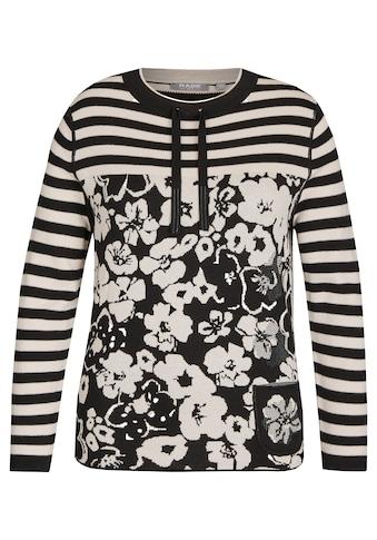 Rabe Pullover mit Ringeln und Blumenmuster kaufen