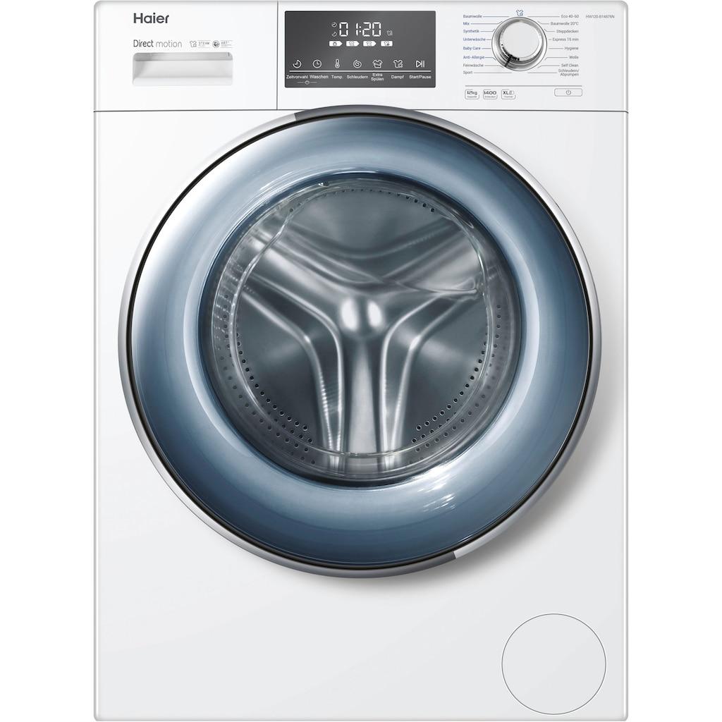 Haier Waschmaschine »HW120-B14876N«, HW120-B14876N, 12 kg, 1400 U/min