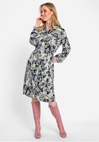 Olsen Druckkleid, mit Taillengürtel kaufen