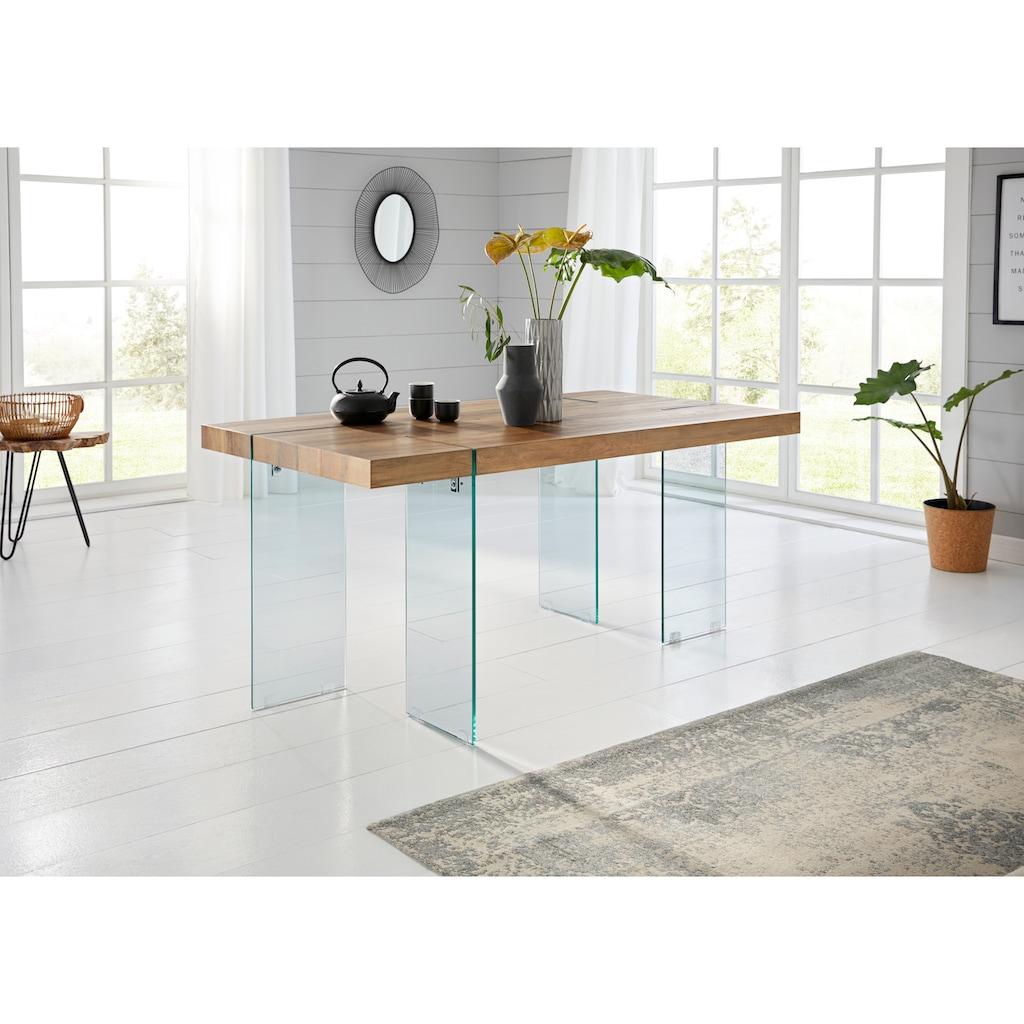 Esstisch »Travis«, Breite 160 cm, Gestell aus Glas
